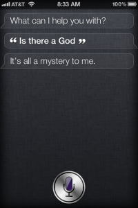 siri is there a god