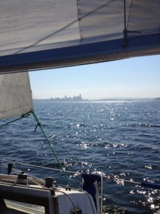Islander 30 sailing